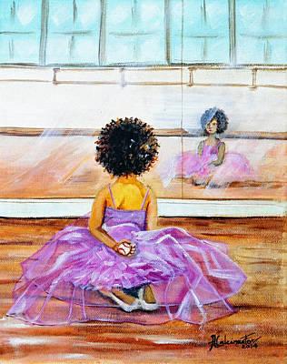 The Rebel Ballerina Original by Adriana Fox