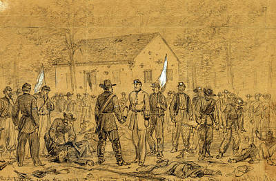 Chinese American Drawing - The Rebel Dodge To Cover The Retreat Into Virginia by Quint Lox