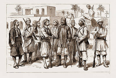 Infantryman Drawing - The Rebellion In The Sudan, 1883 Some Types by Litz Collection
