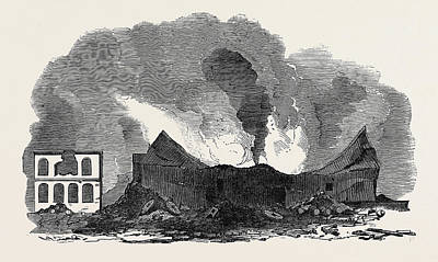 Starkey Drawing - The Recent Fire At San Francisco by English School