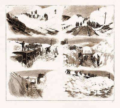The Recent Great Snow Storm In Scotland, Scenes Art Print