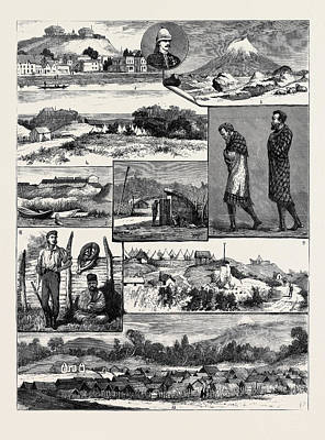 New Zealand Drawing - The Recent Native Troubles In New Zealand 1. The Rutland by New Zealand School