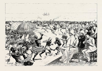 Griffith Drawing - The Reception Of Sir Baldwin Griffith by African School