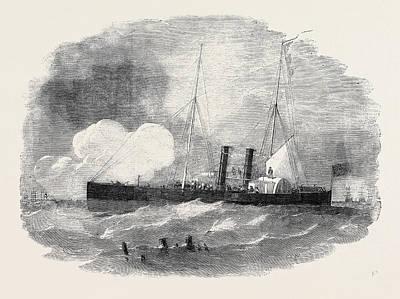 The Recruit Steam Gun Boat The Bombardment Of Taganrog Art Print by English School