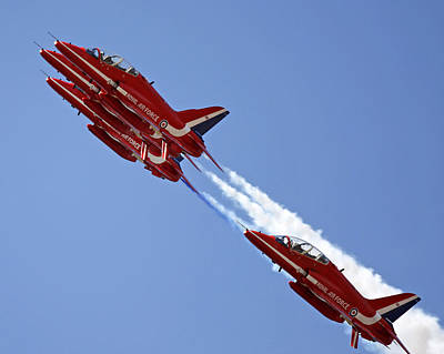 Photograph - The Red Arrows by Steve Ball