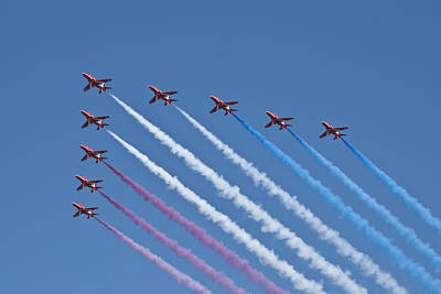 Photograph - The Red Arrows by Steve Purnell