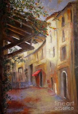 Painting - The Red Awning by Madeleine Holzberg