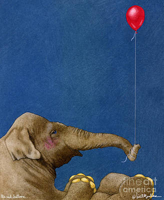 The Red Balloon... Art Print by Will Bullas
