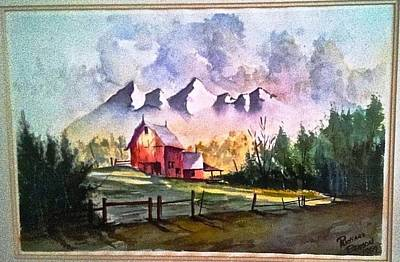 The Red Barn Angry Sky Sold Art Print by Richard Benson