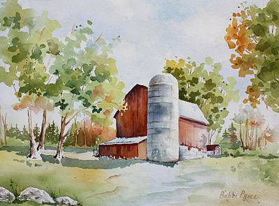 Painting - The Red Barn by Bobbi Price