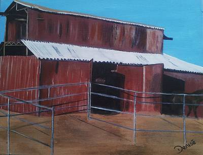 Painting - The Red Barn by Denise Hills
