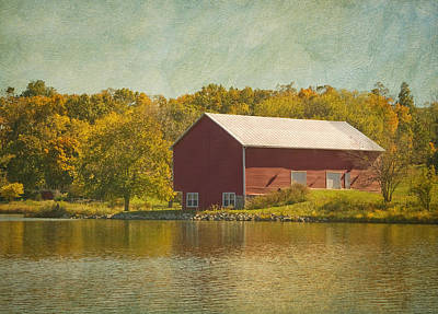 The Red Barn Art Print by Kim Hojnacki
