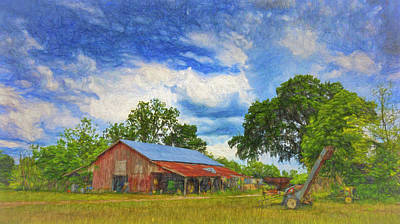 Photograph - The Red Barn by Lewis Mann