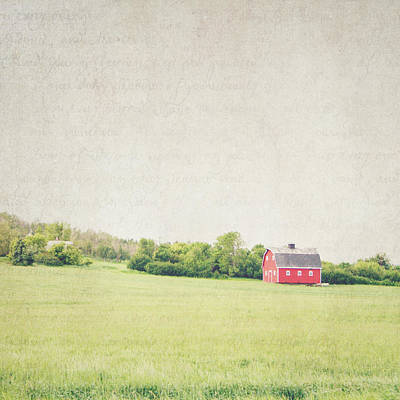 Photograph - The Red Barn by Lisa Parrish