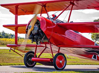 Triplane Photograph - The Red Baron 2 by Steve Harrington