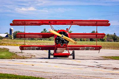 Triplane Photograph - The Red Baron 3 by Steve Harrington