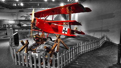 Triplane Photograph - The Red Baron Fokker Dr. I  Ver2 by John Straton