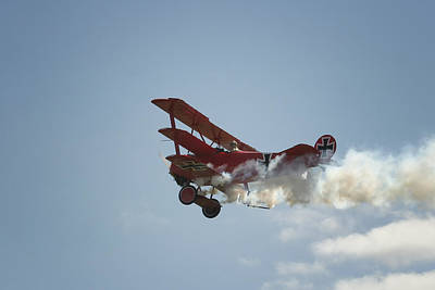Triplane Photograph - The Red Baron by Gary Hall