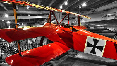Triplane Photograph - The Red Baron Fokker Dr. I by John Straton