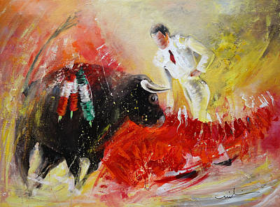 Painting - The Red Barrier by Miki De Goodaboom