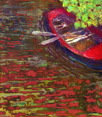 Painting - The Red Boat by Daniel Bonnell