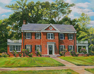 Painting - The Red Brick House Commision by Nancy Griswold