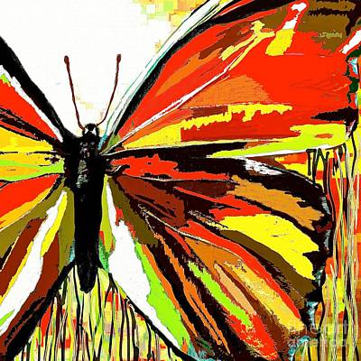 Painting - The Red Butterfly by Saundra Myles
