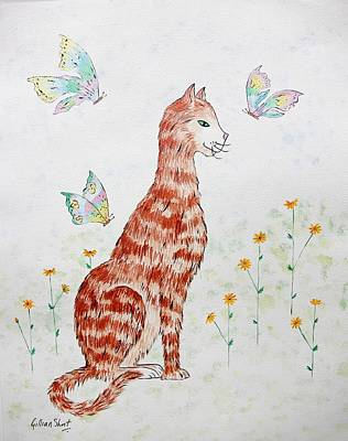 Moggy Painting - The Red Cat by Gillian Short