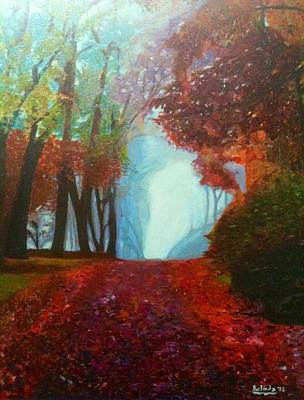 Art Print featuring the painting The Red Cathedral - A Journey Of Peace And Serenity by Belinda Low