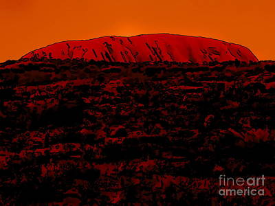 Digital Art - The Red Center D by Tim Richards