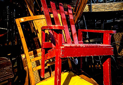Photograph - The Red Chair by Donna Lee