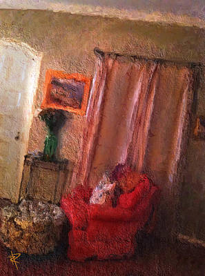 Mixed Media - The Red Chair by Russell Pierce