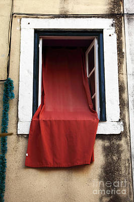 Photograph - The Red Curtain by John Rizzuto