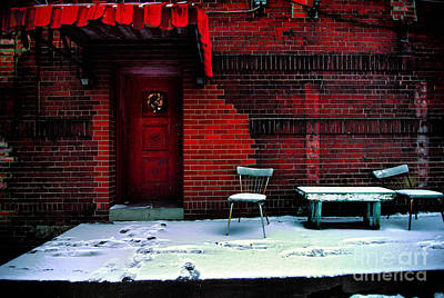 Run Photograph - The Red Door by Amy Cicconi