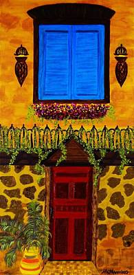 Art Print featuring the painting The Red Door by Celeste Manning