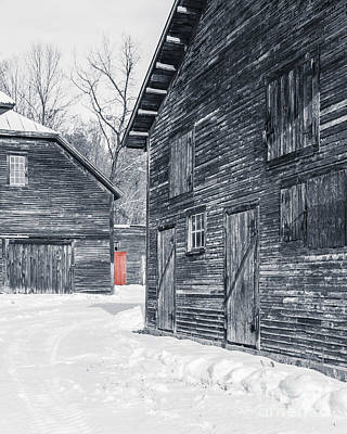 Barn Red Photograph - The Red Door by Edward Fielding