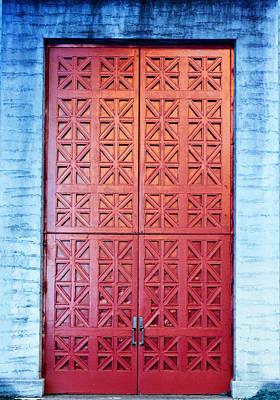 Photograph - The Red Door by Holly Blunkall