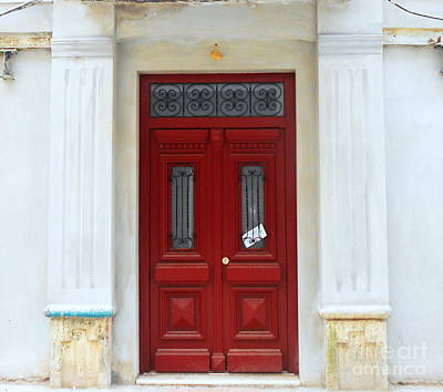 Photograph - The Red Door by Ioanna Papanikolaou