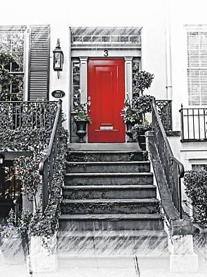 Photograph - The Red Door by Joe Duket
