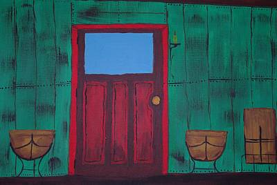 The Red Door Art Print by Keith Nichols