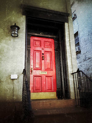 Greenwich Village Digital Art - The Red Door by Natasha Marco
