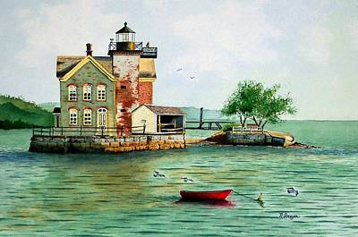 Painting - The Red Dory by Norman Freyer