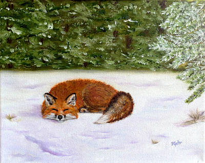 Painting - The Red Fox Of Winter by Dr Pat Gehr