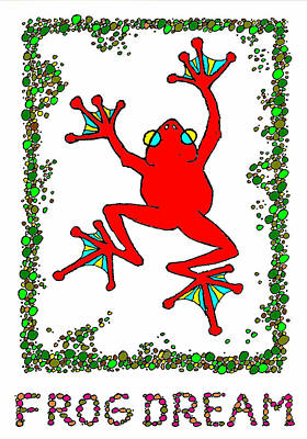 The  Red  Frog   Art Print by Hartmut Jager
