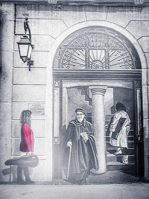 The Red Girl And The Holy Man Original by Stwayne Keubrick