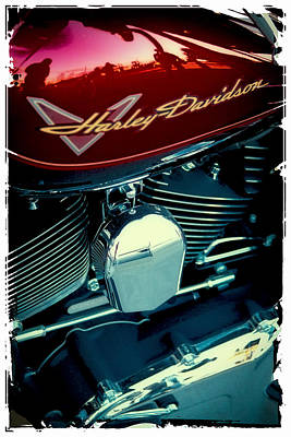 Photograph - The Red Harley by David Patterson