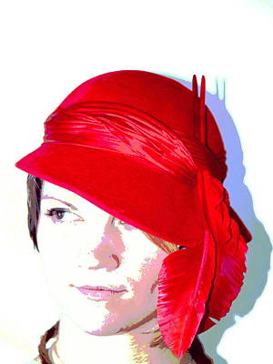 The Red Hat II Art Print by  Andrea Lazar