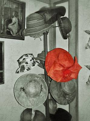 Red Hat Society Photograph - The Red Hat by Jean Goodwin Brooks