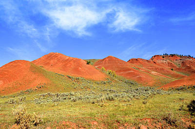 The Red Hills In The Gross Ventre Art Print