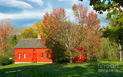 The Red Homestead Art Print by Jim  Calarese